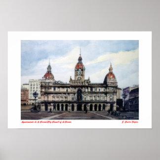 Stadtverwaltung von A Coruña/City Council of Zu Poster