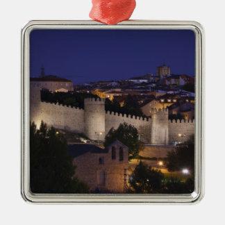 Stadtwände von Los Cuarto Postes, Dämmerung Quadratisches Silberfarbenes Ornament