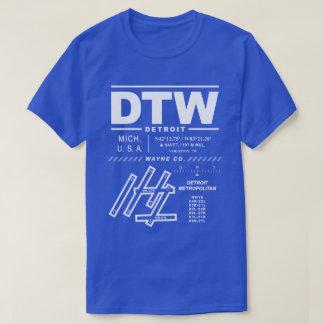 Stadtwayne Co T - Shirt Detroits Flughafen-DTW