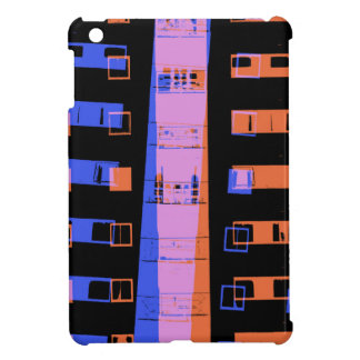 Stadtwohnungs-Gebäude nachts iPad Mini Hülle