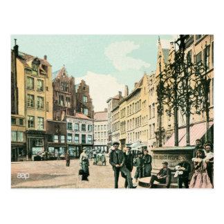 Stadtzentrum 1900s Antwerpens Belgien wieder Postkarte