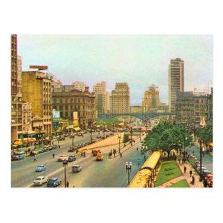 Stadtzentrum Vintagen Brasiliens, Sao-Paulo Postkarte