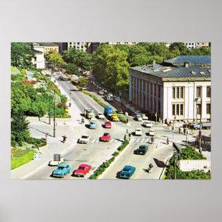 Stadtzentrum Vintagen Norwegens, Oslo Poster