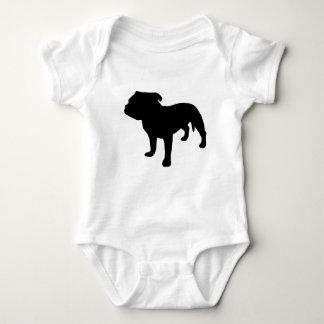 Staffordshire-Bullterrier-Gang Baby Strampler