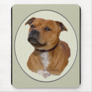 Staffordshire-Bullterrier-Geschenke Mousepad