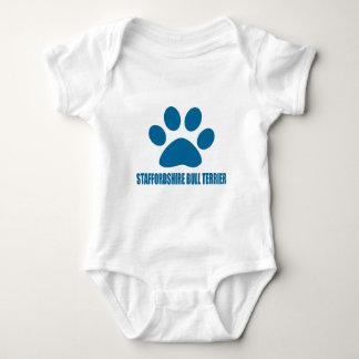 STAFFORDSHIRE-BULLTERRIER-HUNDEentwürfe Baby Strampler