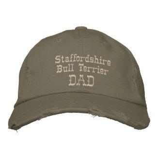 Staffordshire-Bullterrier-Vati-Geschenke Bestickte Baseballkappe
