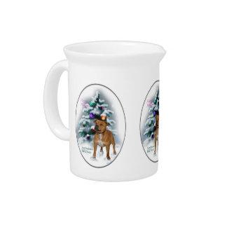 Staffordshire-Bullterrier-Weihnachten Krug