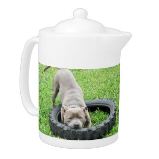 Staffy_Playing_With_Tyre_Medium_Size_Tea_Pot.