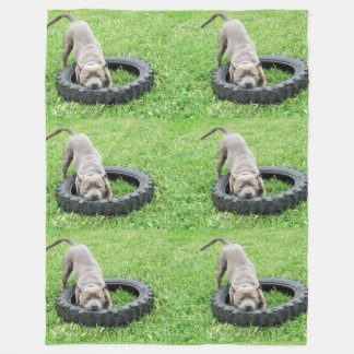 Staffy Playtime-große Fleece-Decke Fleecedecke