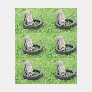 Staffy Playtime-mittlere Fleece-Decke Fleecedecke