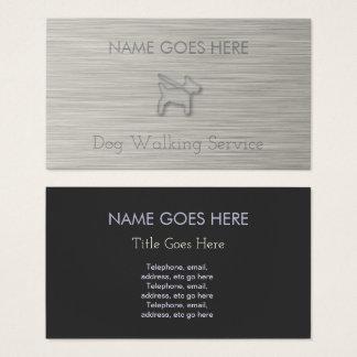 """""""Stahl"""" Hundewanderer-Visitenkarten Visitenkarte"""