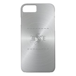 Stahl/silbernes Imitat Metal mit Monogramm iPhone iPhone 8/7 Hülle