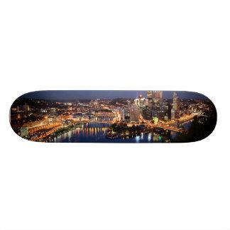 Stahl und Indigo-Sandwich Skateboarddeck