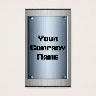 Stahlblau-Metallblick-Rahmen-Visitenkarten Visitenkarte