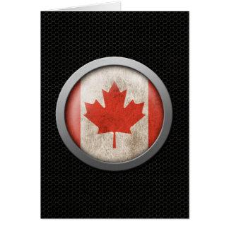 Stahlmaschen-kanadische Flaggen-Disc-Grafik Karte