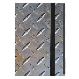 Stahlmetalldiamantmuster grau und rostig iPad mini hülle