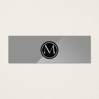 Stahlmonogramm Mini Visitenkarte