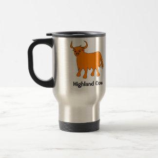 Stahlreise-Tasse der schottischen Hochland-Kuh Edelstahl Thermotasse