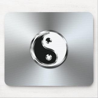 Stahlsteigung grafisches Yin-Yang Symbol Mousepads