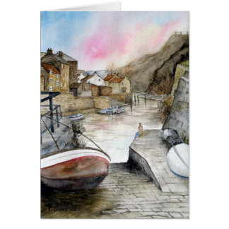 Staithes, North Yorkshire, England Karte