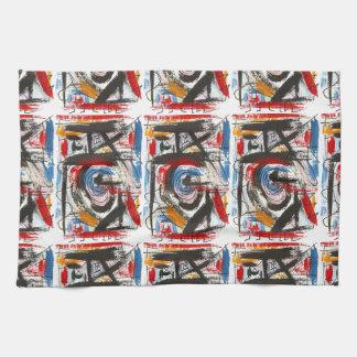 Stakkato-Hand gemalte abstrakte KunstBrushstrokes Handtuch