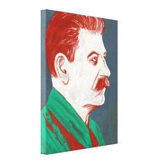 Stalin - moderne Kunst-Leinwand 18x24 Galerie Faltleinwand