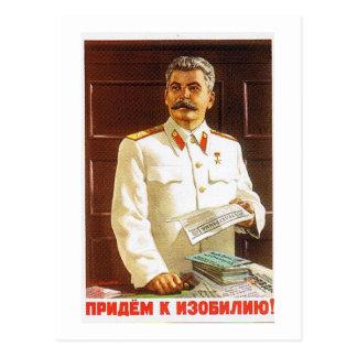 Stalin-Plakatkunst Postkarte