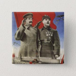 Stalin Quadratischer Button 5,1 Cm