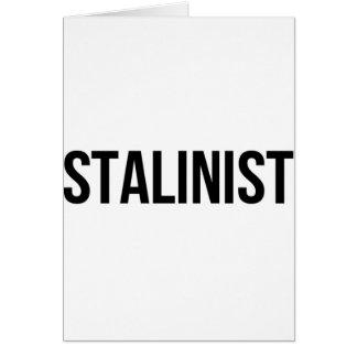 Stalinistischer Josef Stalin die Sowjetunion UDSSR Grußkarte