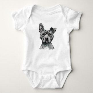 Stalky Gruben-Stier-Hundezeichnen Baby Strampler