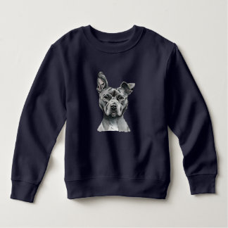 Stalky Gruben-Stier-Hundezeichnen Sweatshirt