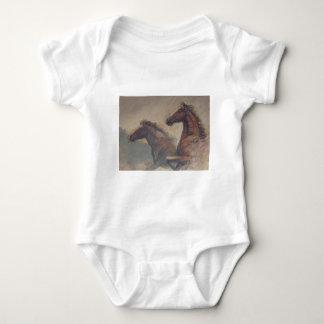 Stallions-Duo in den Pastellen Baby Strampler