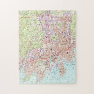 Stamford Connecticut Map (1987) Puzzle
