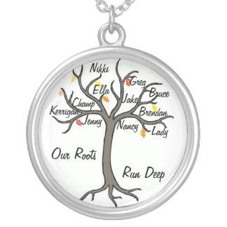 Stammbaum-Halsketten-Gewohnheit bis zu 10 Mitglied