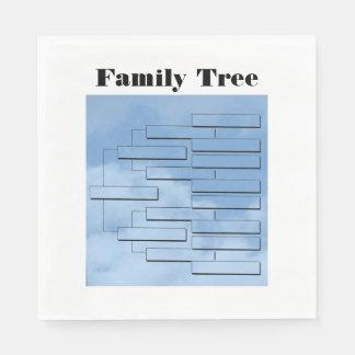 Stammbaum-Mittagessen-Papierserviette Serviette