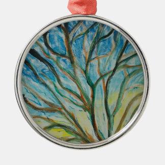 Stammbaum Silbernes Ornament
