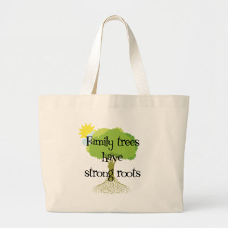 Stammbäume haben starke Wurzeln Jumbo Stoffbeutel