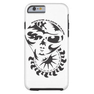Stammes- alien mit Sonne Tough iPhone 6 Hülle