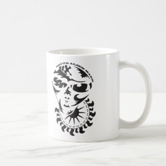Stammes- alien mit Sonne- und Erntekreis Kaffeetasse