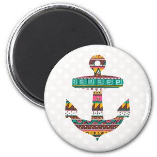 Stammes- Anker Runder Magnet 5,1 Cm