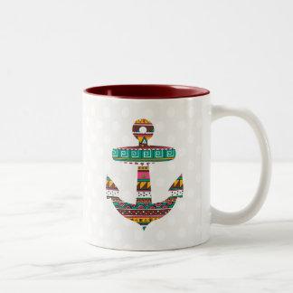 Stammes- Anker Zweifarbige Tasse