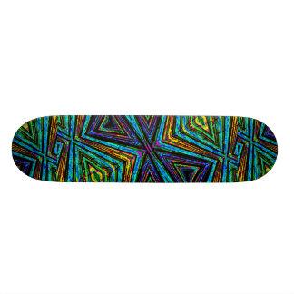 Stammes- Art-buntes geometrisches Muster Personalisierte Skatedecks
