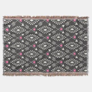 Stammes- Azteke mit Herzen u. Pfeil-Wurfs-Decke Decke