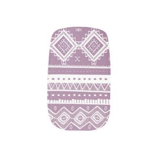 Stammes- aztekischer Spitze-MusterMinx lila) Minx Nagelkunst