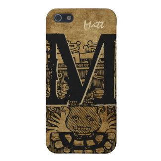 Stammes- aztekisches Monogramm personalisierter iPhone 5 Schutzhülle