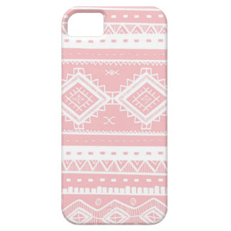 Stammes- aztekisches Spitze-Muster (Babyrosa) iPhone 5 Hüllen