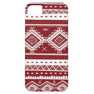 Stammes- aztekisches Spitze-Muster (rot) Hülle Fürs iPhone 5