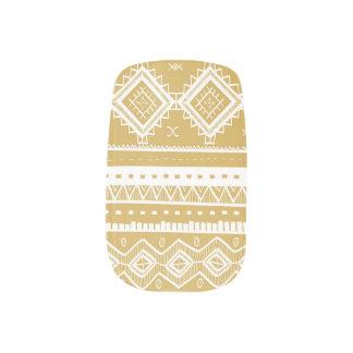 Stammes- aztekisches Spitze-MusterMinxgold) Minx Nagelkunst