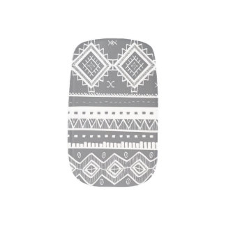 Stammes- aztekisches Spitze-MusterMinxgrau) Minx Nagelkunst